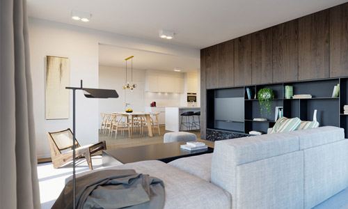 Appartement met 3 slaapkamers - interieur