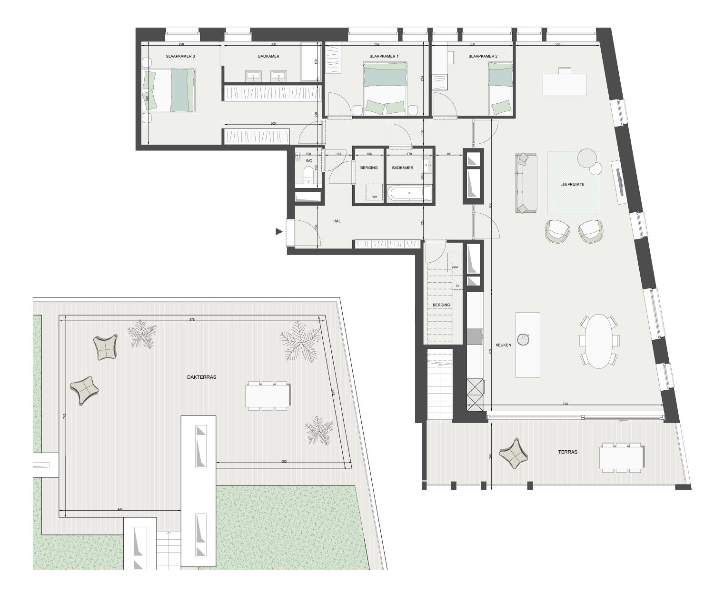 Plan penthouses