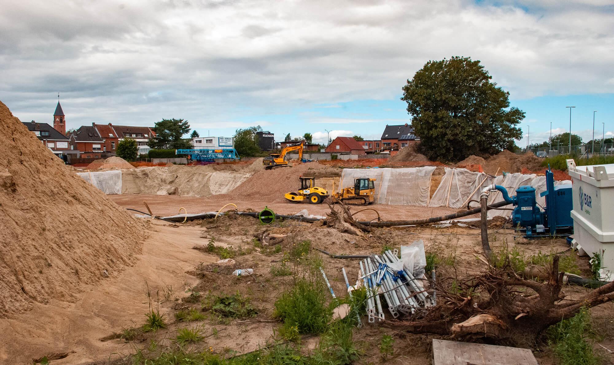beeld niveau -1 uitgegraven